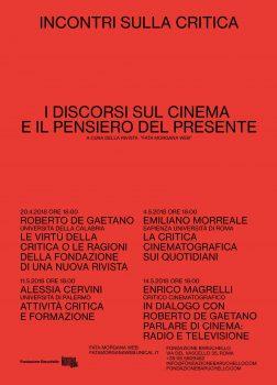 incontri sulla critica cinema