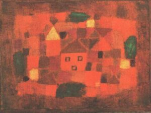 Landscape with Sunset di Paul Klee